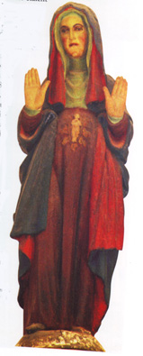 statue of Vierge enceinte seul reste