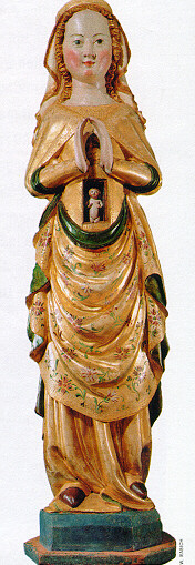 statue of Mary with Jesus in womb
