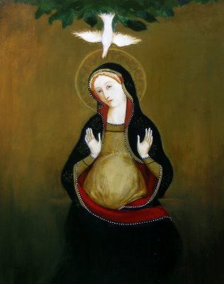 Painting of the Virgin Mary by Kay Eneim, EneimFineArt.com