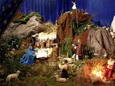 Nativity Scene Christmas Eve Midnight